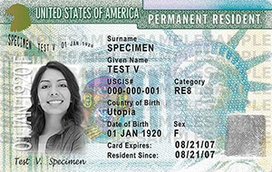 U.S. Permanent Resident Green Card