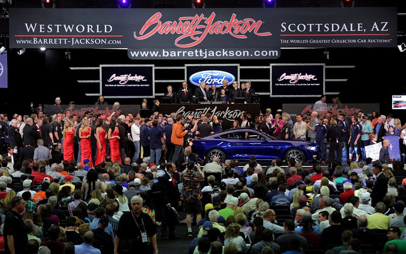 Barrett Jackson Auto Show In Scottsdale - Westworld scottsdale car show
